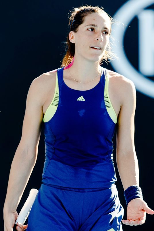 ANDREA PETKOVIC at Australian Open Tennis Tournament in Melbourne 01/16/2018