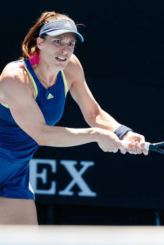 ANDREA PETKOVIC at Australian Open Tennis Tournament in Melbourne 01/18/2018