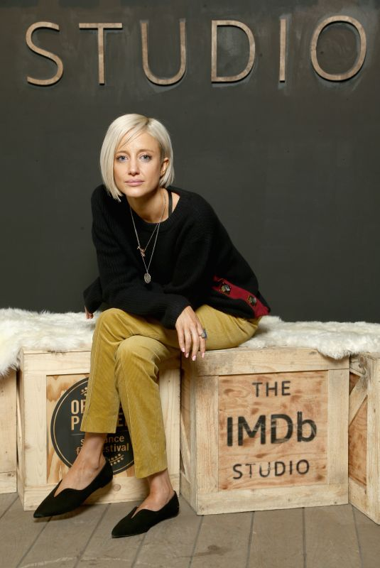 ANDREA RISEBOROUGH at IMDB Studio at Sundance Film Festival in Park City 01/19/2018