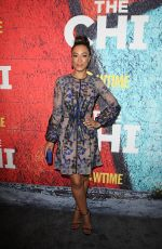 ANGELA RYE at The Chi Premiere in Los Angeles 01/03/2018