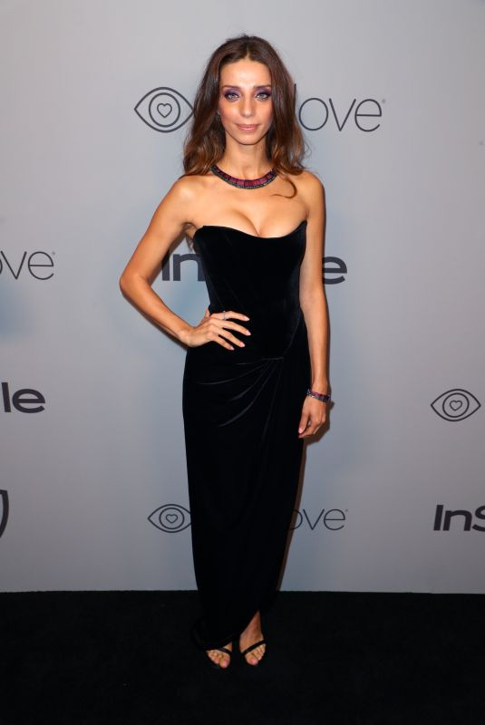 ANGELA SARAFYAN at Instyle and Warner Bros Golden Globes After-party in Los Angeles 01/07/2018