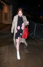 ANGELA SCANLON Arrives at The One Show in London 01/15/2018