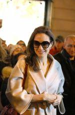 ANGELINA JOLIE Leaves Guerlain Perfumes Shop on Champs-elysees in Paris 01/29/2018