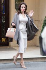 ANGELINA JOLIE Leaves Her Hotel in Paris 01/30/2018