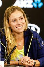 ANGELIQUE KERBER Press Conference at Australian Open Tennis Tournament in Melbourne 01/18/2018