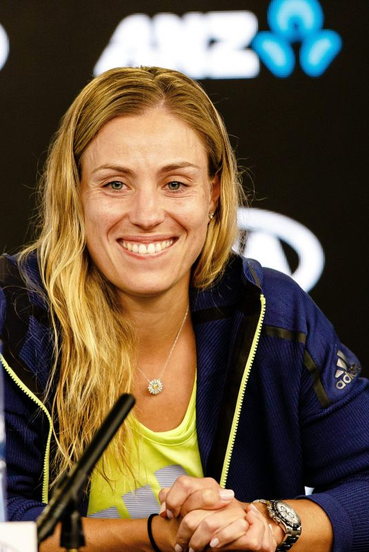 ANGELIQUE KERBER Press Conference at Australian Open Tennis Tournament in Melbourne 01/18/2018