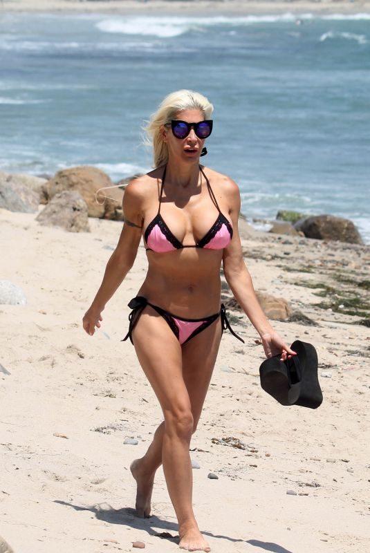 ANGLEIQUE FRENCHY MORGAN in Bikini at a Beach in Malibu 01/23/2018