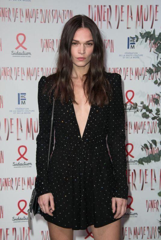 ANNA BREWSTER at Sidaction Gala Dinner in Paris 01/25/2018