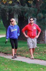 ANNA CAMP and Skylar Astin Walks Their Dog in Los Feliz 01/03/2018