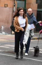 ANNA FRIEL on the Set of Butterfly in Manchester City Centre 01/09/2018
