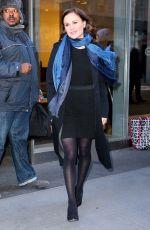 ANNA PAQUIN Leaves SiriusXM Studios in New York 01/18/2018