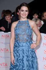 ANNA PASSEY at National Television Awards in London 01/23/2018