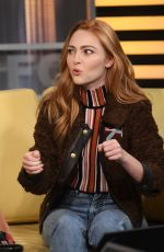 ANNA SOPHIA ROBB at Good Day New York 01/10/2018