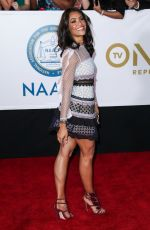 ANNIE ILONZEH at 49th Naacp Image Awards in Pasadena 01/14/2018