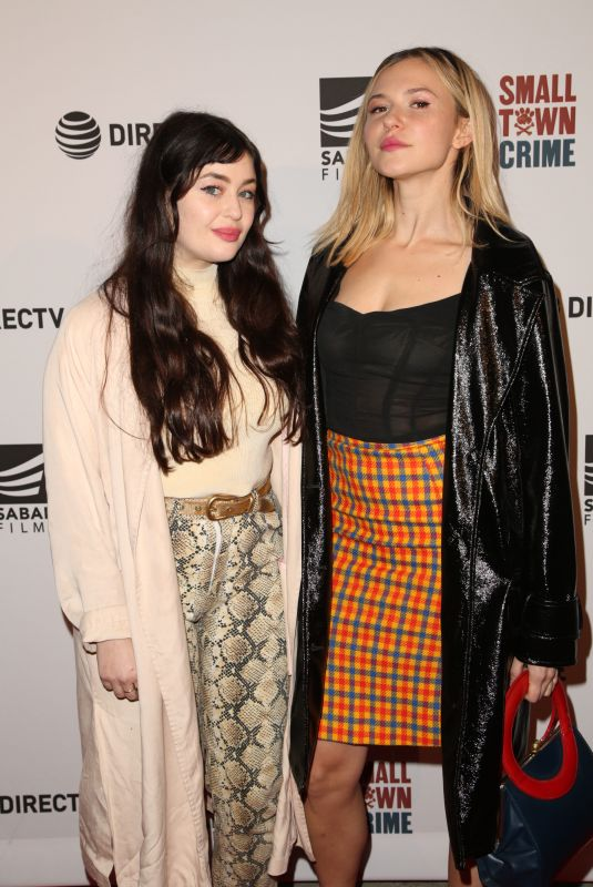 ARIANA PAPADEME TROPOULOS and PAIGE ELKINGTON at Small Town Crime Special Screening in Los Angeles 01/09/2018