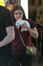 ARIEL WINTER Leaves a Petco Store with Baby Bunny in Los Angeles 01/27/2018