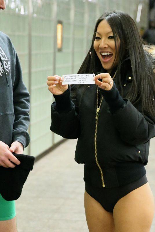 ASA AKIRA Participates in No Pants Subway Day in New York 01/07/2018