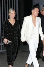 ASHLEE SIMPSON and Evan Ross Arrives at Red Studios in Los Angeles 01/28/2018