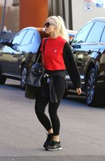 ASHLEE SIMPSON Arrives at a Gym in Studio City 01/26/2018
