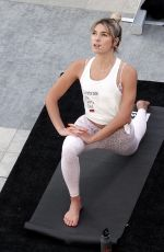 ASHLEY HART at a Yoga Class in Los Angeles 01/14/2018