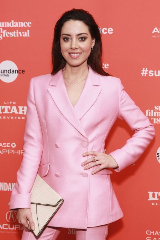 AUBREY PLAZA at An Evening with Beverly Luff Linn Premiere at 2018 Sundance Film Festival 01/20/2018