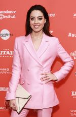 AUBREY PLAZA at An Evening with Beverly Luff Linn Premiere at Sundance Film Festival 01/20/2018