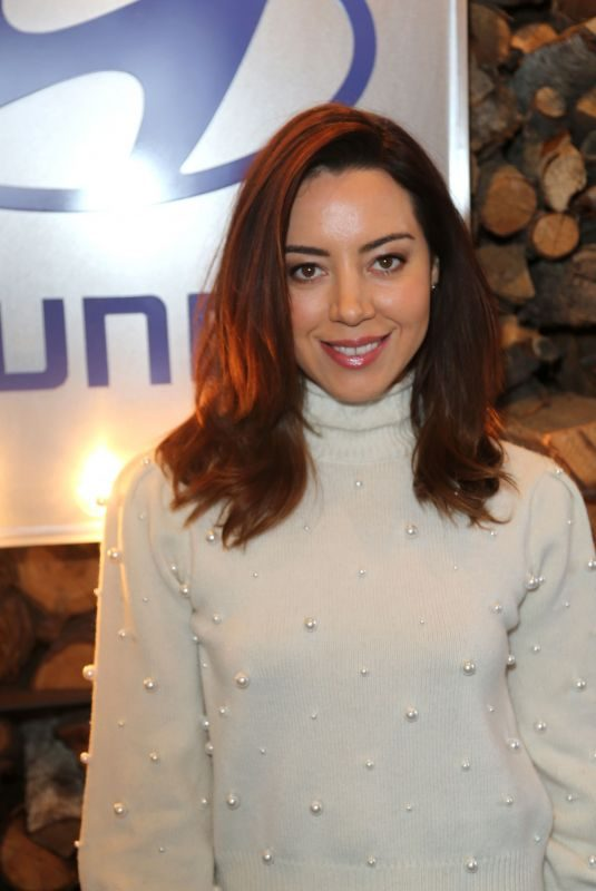 AUBREY PLAZA at Deadline Studio at 2018 Sundance Film Festival 01/20/2018