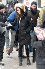 AUBREY PLAZA Out at Sundance Film Festival in Park City 01/21/2018