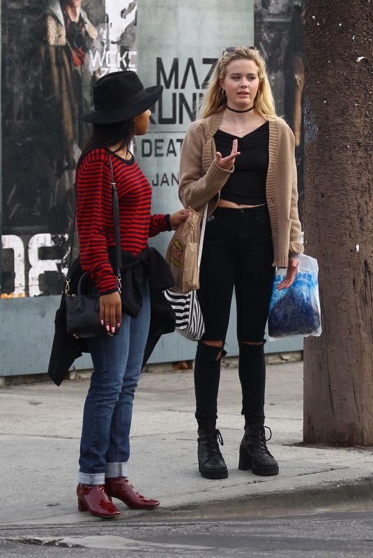 AVA PHILLIPPE Out Shopping in West Hollywood 01/10/2018