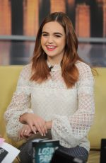 BAILEE MADISON at Good Day New York Show in New York 01/31/5018