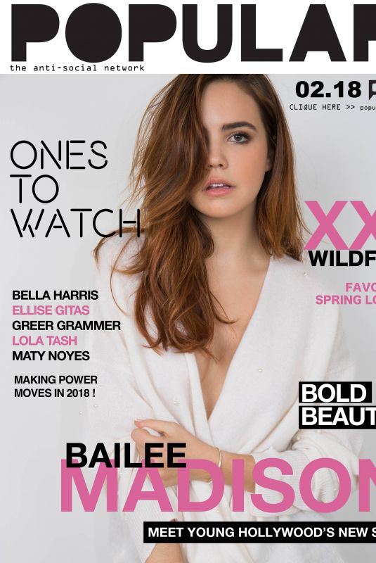 BAILEE MADISON for Ones to Watch, January 2018