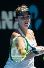 BELINDA BENCIC at Australian Open Tennis Tournament in Melbourne 01/17/2018