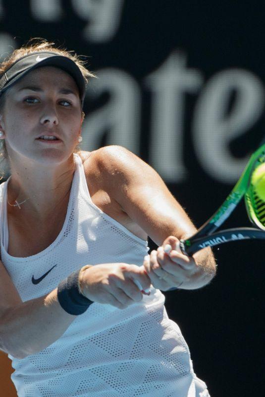 BELINDA BENCIC at Australian Open Tennis Tournament in Melbourne 01/17/2018