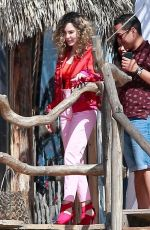 BELINDA PEREGRIN on the Set of a Photoshoot in Tulum 01/12/2018