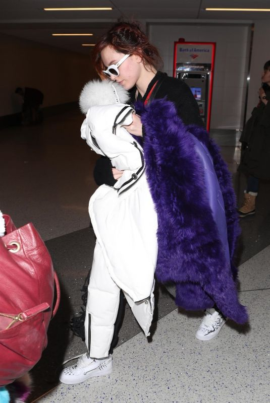 BELLA and DANI THORNE at LAX Airport in Los Angeles 01/23/2018