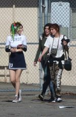 BELLA and DANI THORNE on the Set of a Music Video in Los Angeles 01/13/2018