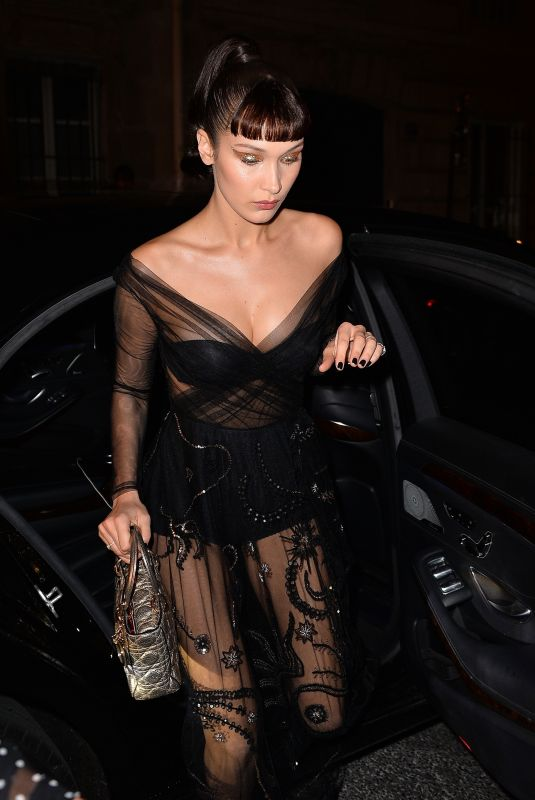 BELLA HADID Arrives at Christian Dior Afterparty in Paris 01/22/2018