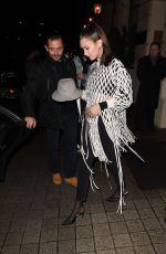 BELLA HADID Arrives at Hotel Costes in Paris 01/20/2018
