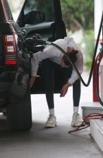 BELLA HADID at a Gas Station in Beverly Hills 01/08/2018