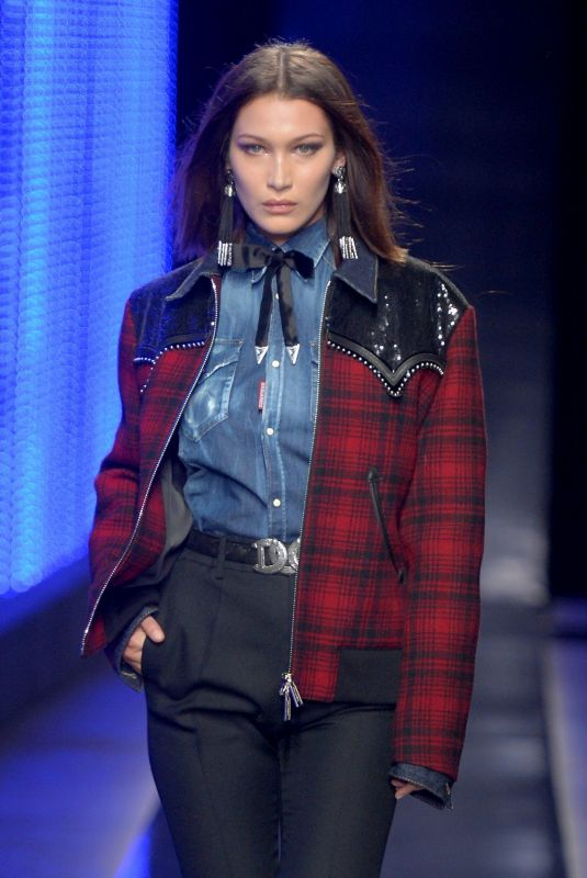 BELLA HADID at Dsquared2 Fashion Show in Milan Men