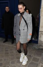 BELLA HADID at Heron Preston Presentation Menswear Fall/Winter 2018/2019 Show in Paris 01/17/2018