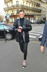BELLA HADID Heading to Bulgari Store in Paris 01/24/2018