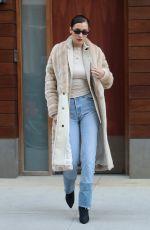 BELLA HADID Leaves Bar Pitti in New York 01/26/2018