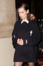 BELLA HADID Leaves Royal Monceau Hotel in Paris 01/18/2018
