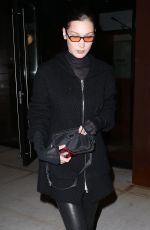 BELLA HADID Night Out in New York 01/29/2018