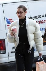 BELLA HADID Out and About in New York 01/25/2018