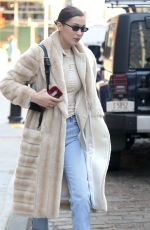 BELLA HADID Out and About in New York 01/26/2018