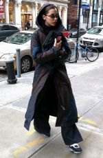 BELLA HADID Out and About in New York 01/28/2018