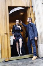 BELLA HADID Out and About in Paris 01/22/2018