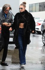 BELLA HADID Out for Lunch at Il Pastaio in Beverly Hills 01/09/2018